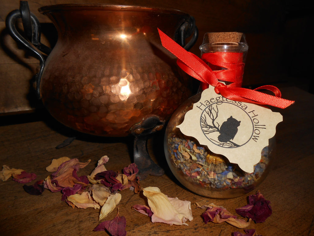 Witch Bottle Spell Jar -- ENERGIZING HAPPINESS