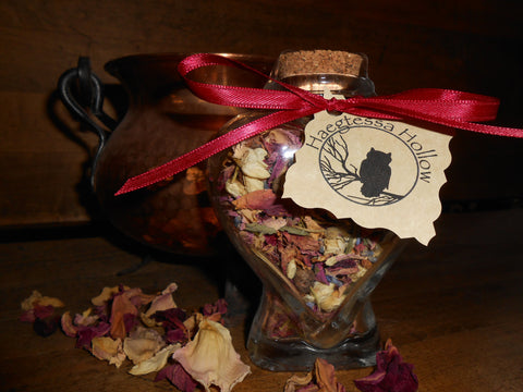 Witch Bottle Spell Jar -- LOVE and PASSION - CynCraft