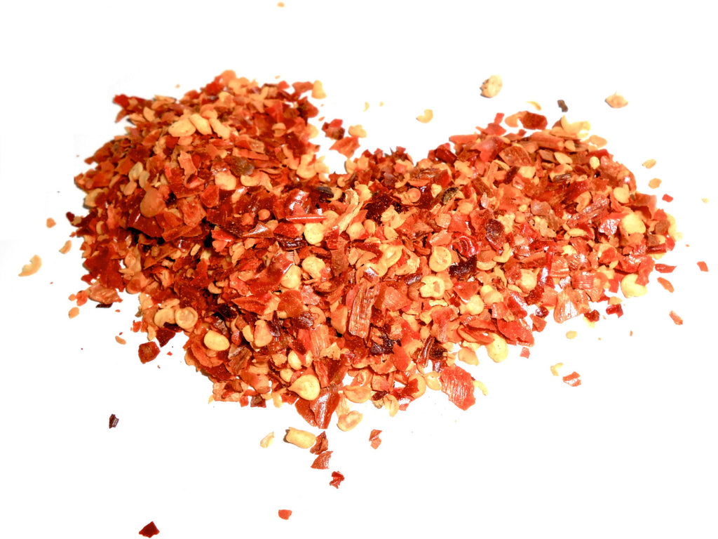Red CHILE Chili Pepper FLAKES, Organic - CynCraft