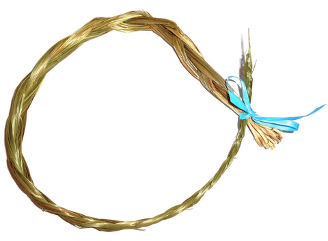 SWEETGRASS BRAID, 24-30 Inches Long - Dried Sweet Grass - CynCraft