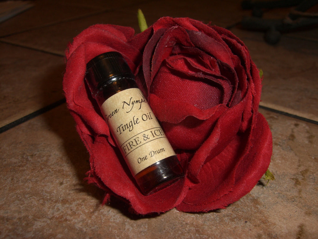 Fire & Ice TINGLE OIL - Warming and Cooling Essential Oil Blend - Just a Little Dab Will Do - CynCraft