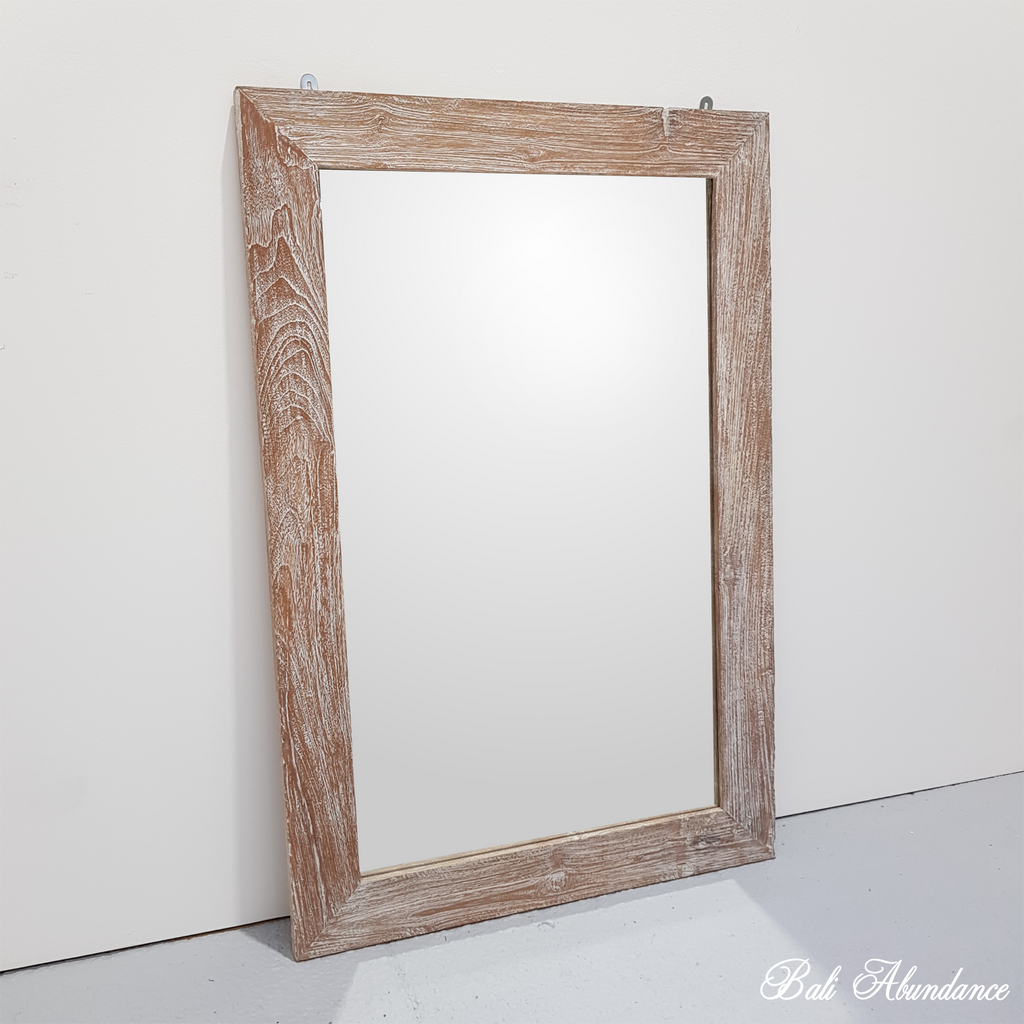 PRE ORDER INDAH Hand Carved JATI WASH Mirror 120 x 80