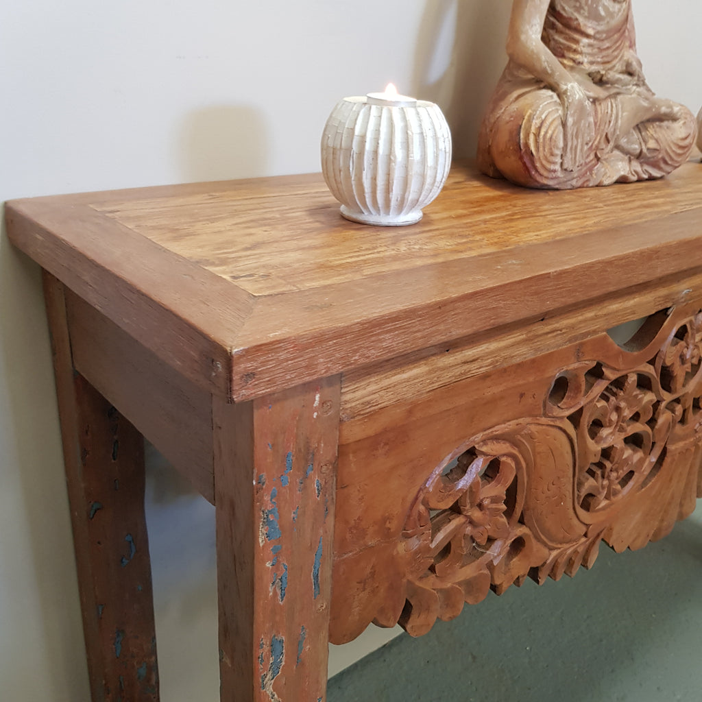 Balinese Hand Carved Console Hall Table 112J