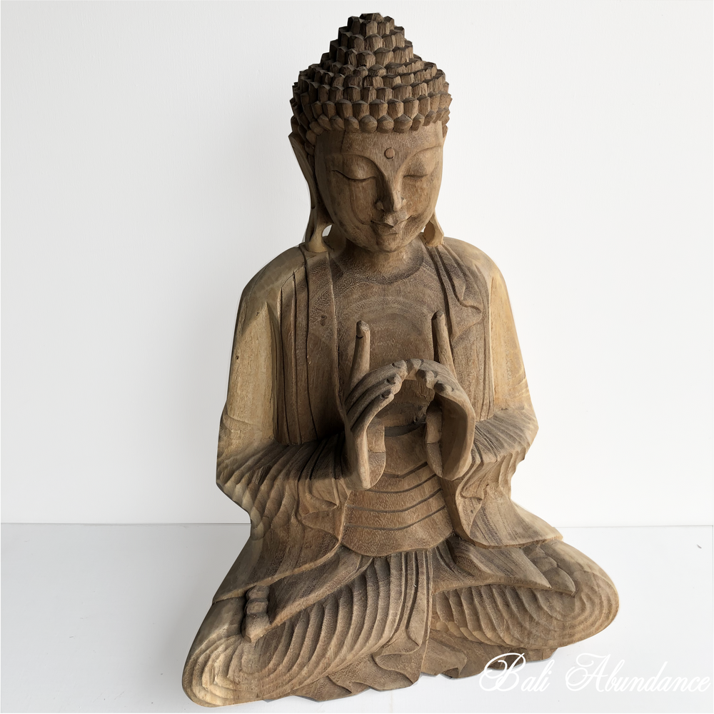 Balinese Natural Praying Buddha 138L