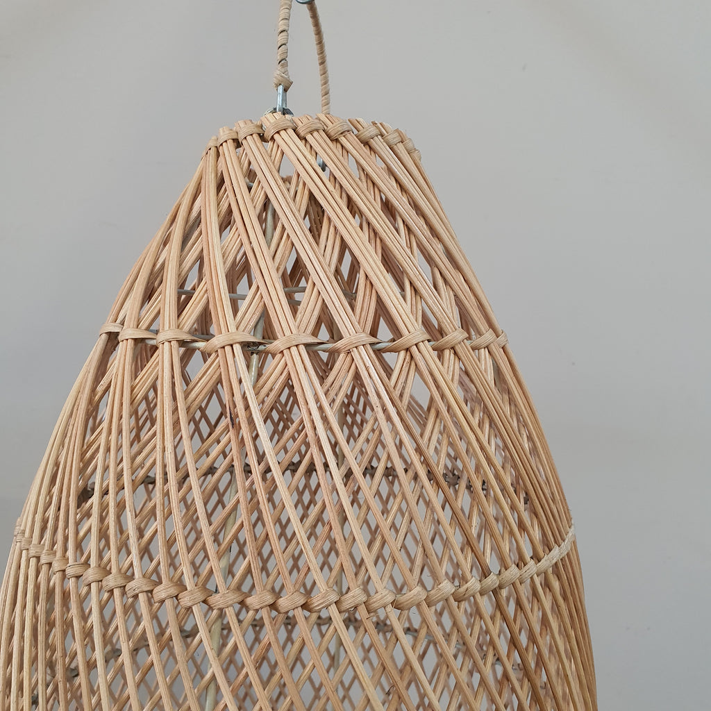 Handmade Rattan Light Shade Pendant - Natural