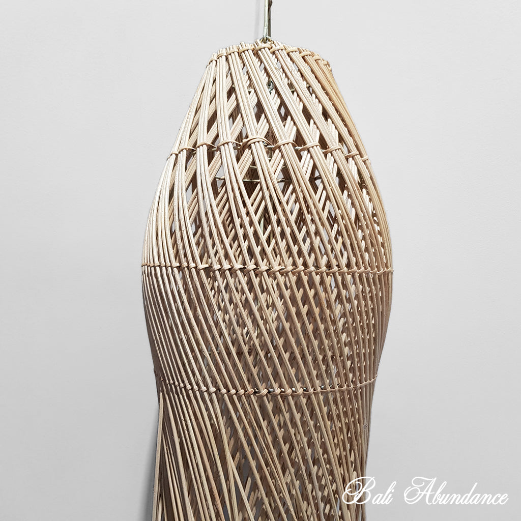 Handmade Natural Rattan Light Shade Pendant