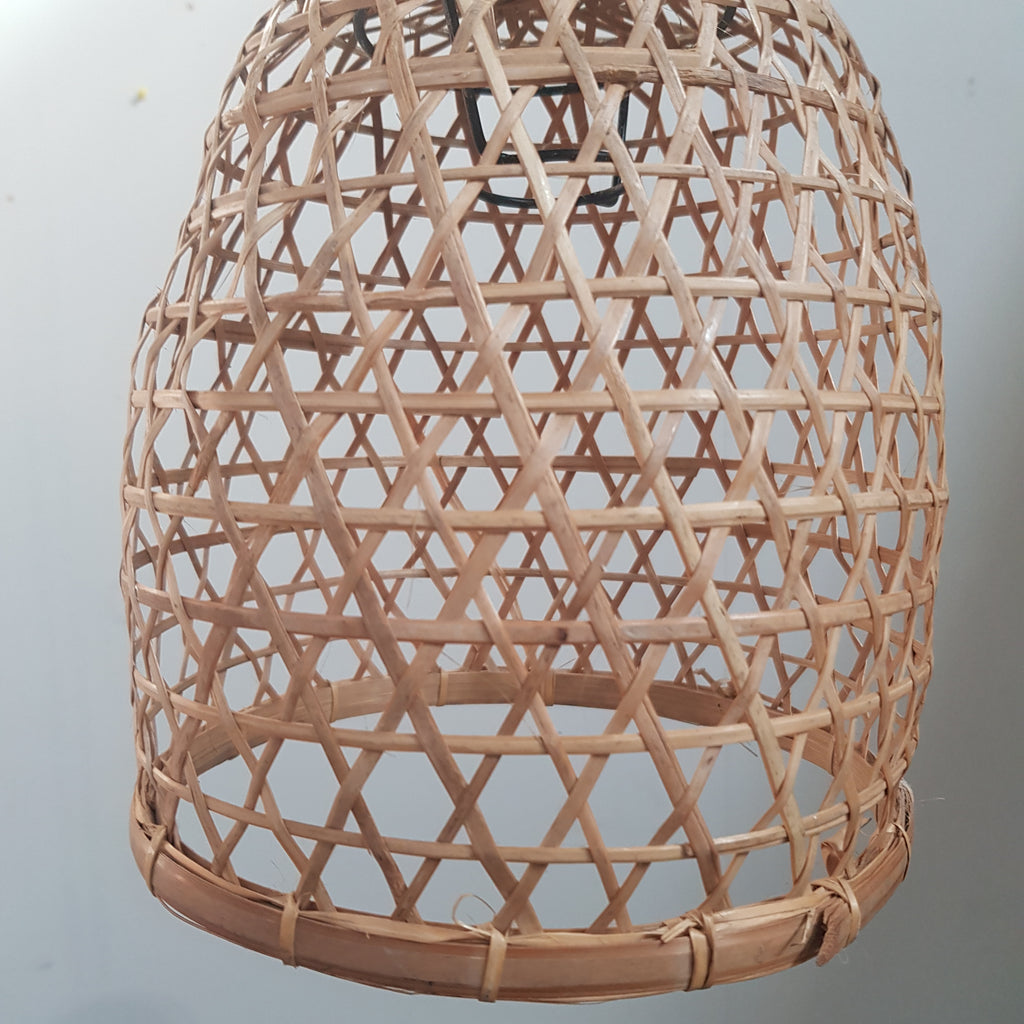 Handmade Bamboo Chicken Basket Pendant - Small