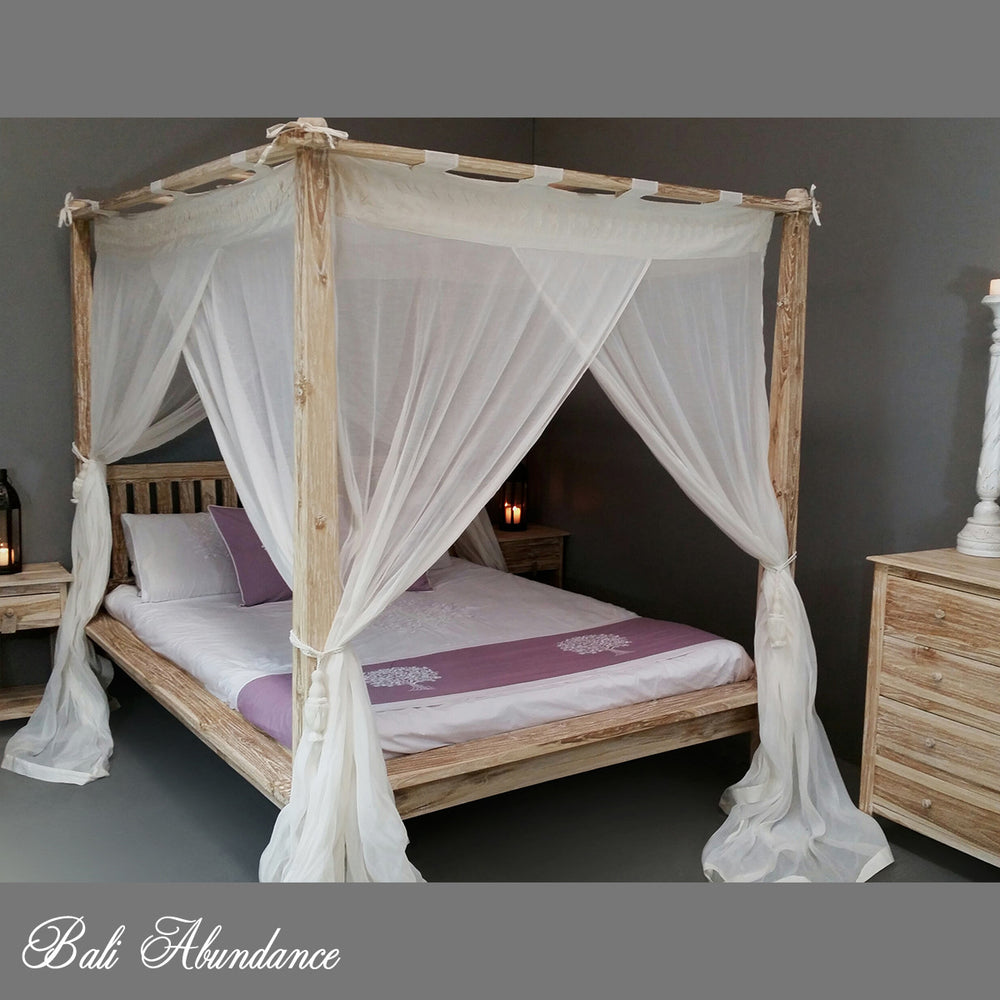 RUMPLE Canopy Mosquito Net in NATURAL
