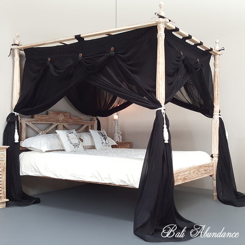DELUXE Canopy Mosquito Net in BLACK