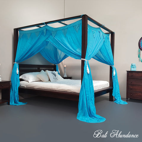 STANDARD Button-Less Canopy Mosquito Net in Turquoise