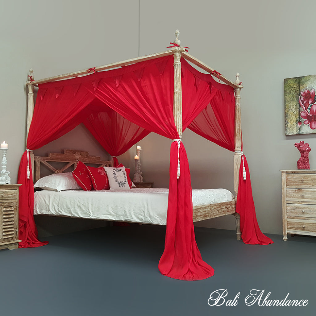 STANDARD Button-Less Canopy Mosquito Net in RED