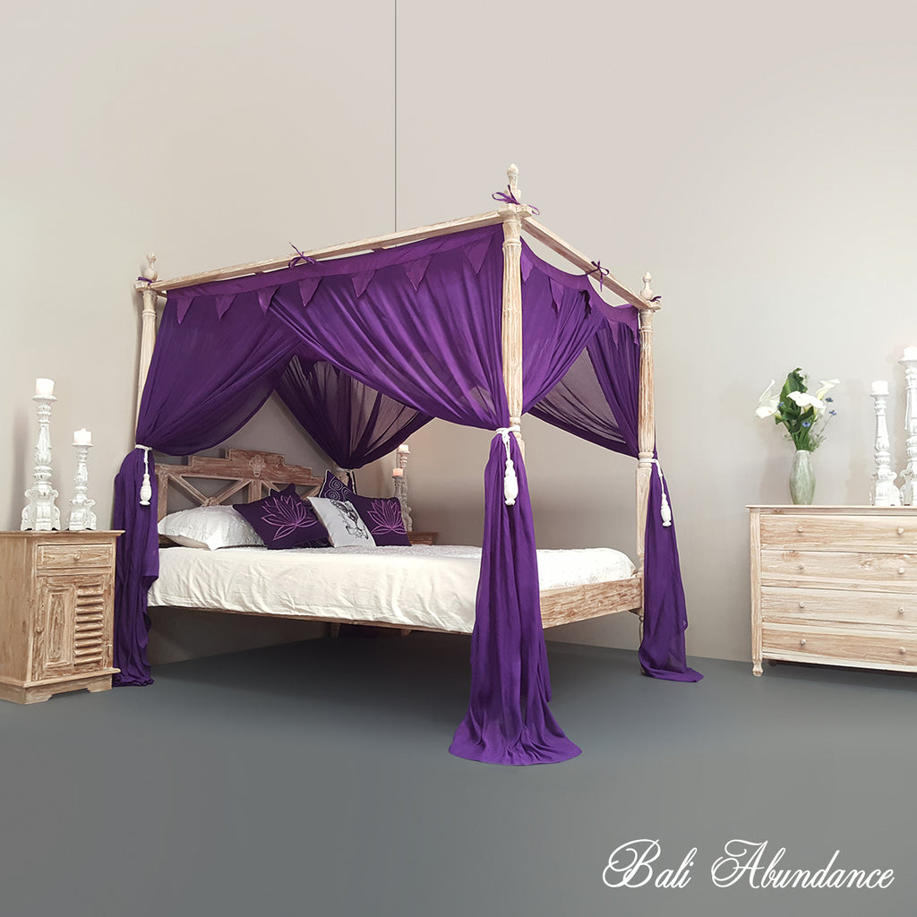 STANDARD Button-Less Canopy Mosquito Net in PURPLE