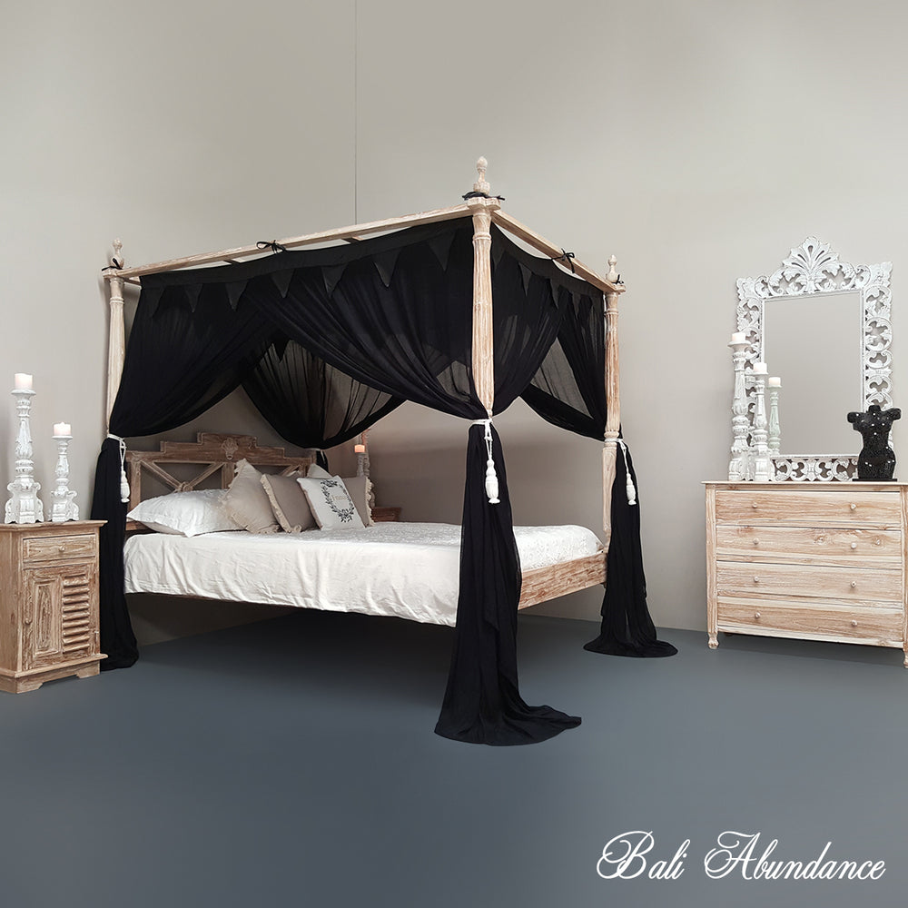 STANDARD Button-Less Canopy Mosquito Net in BLACK