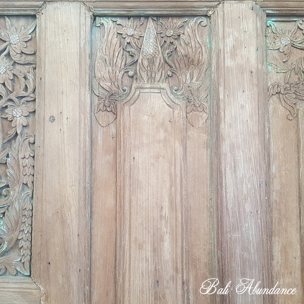 Balinese Original 3 Piece Natural & Green Set with Double Doors & Two Panels 20A