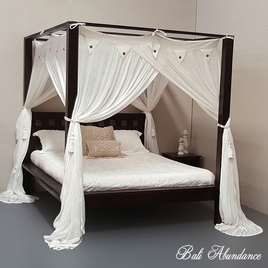 4 four poster bed bali handcarved walnut mimi