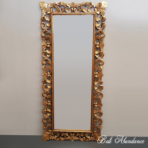 Hand Carved French Provincial Inspired Gold Mirror