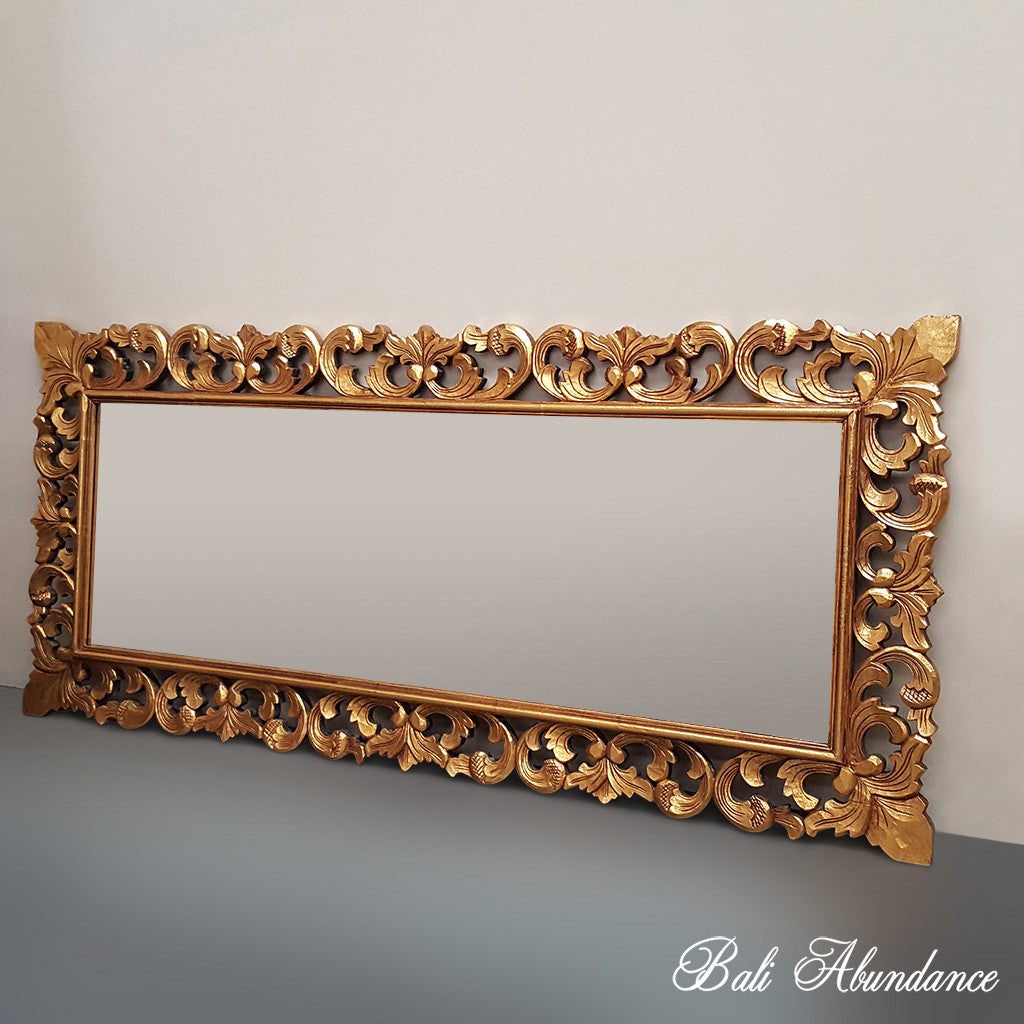 Hand Carved French Provincial Inspired GOLD Mirror 180 x 80