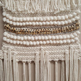 Cream Cotton & Shell Macrame Wall Hanging - 68C