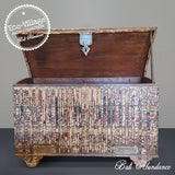 Indian 19th Century Himalayan Dawrey Trunk Storage Box 120C- Eco Village Collection