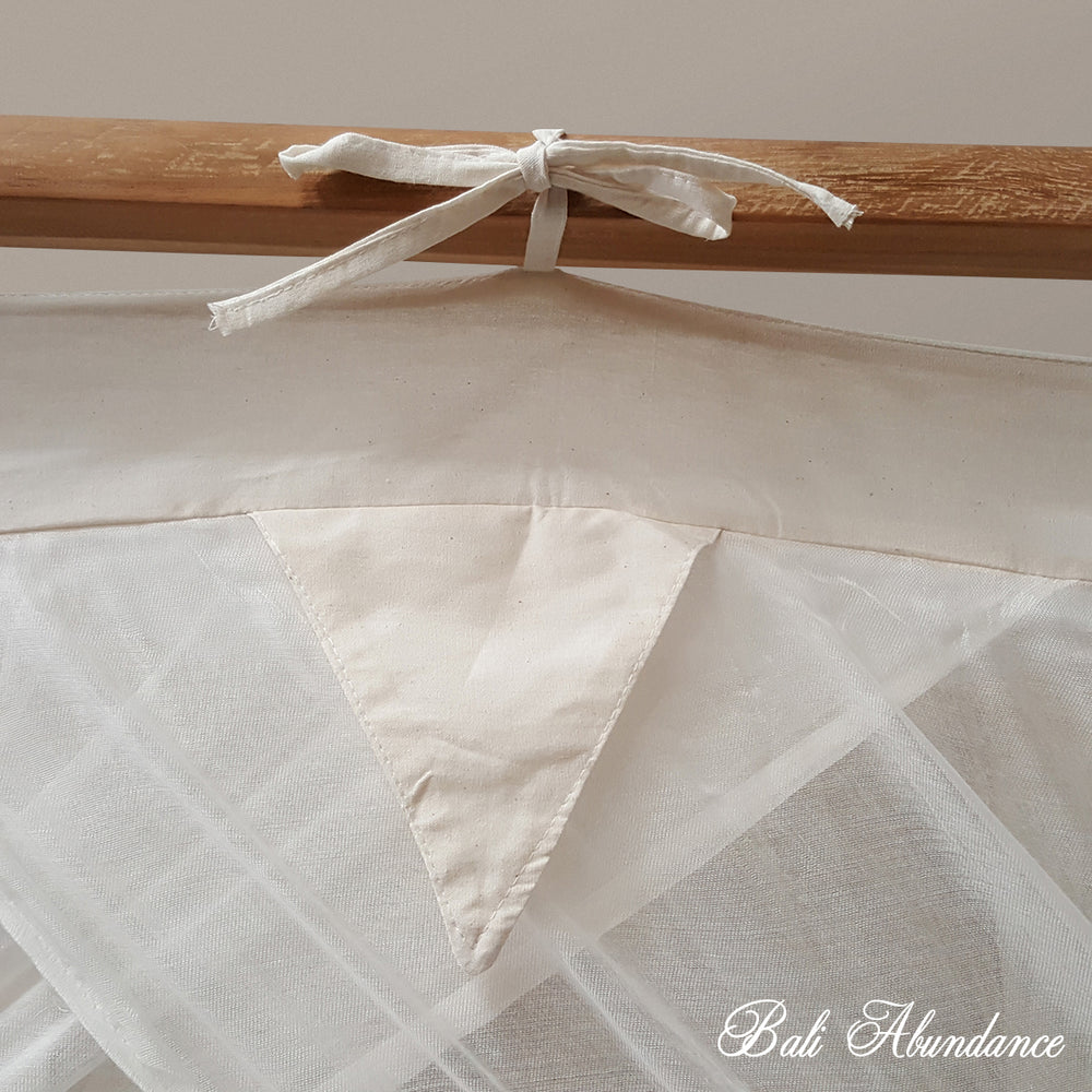 STANDARD Button-Less Canopy Mosquito Net in NATURAL