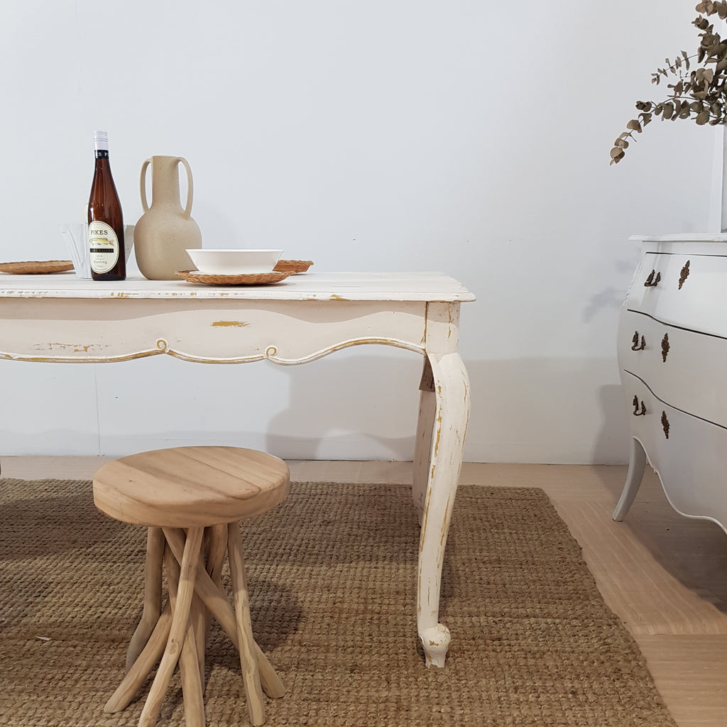 French Provincial White Dining Table