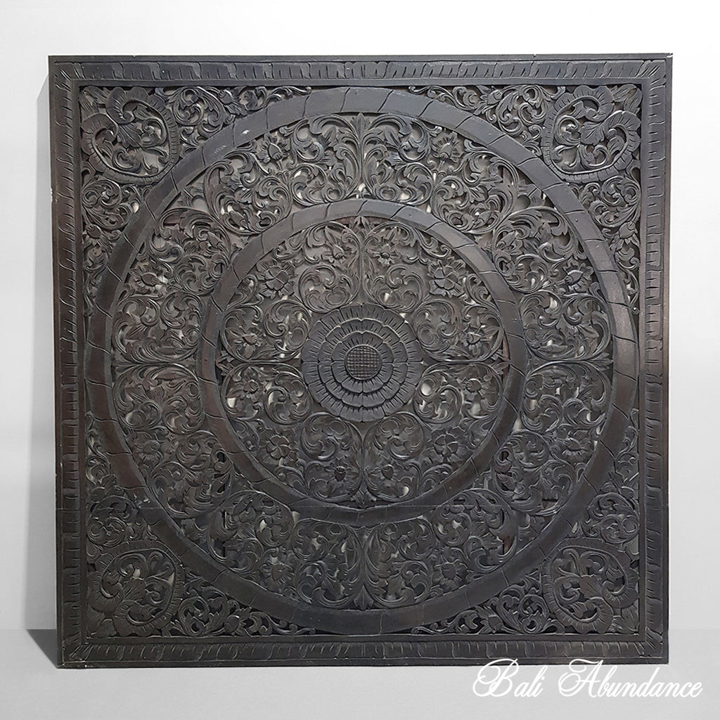 Hand Carved Wall Panel DARK BROWN 165 X 165