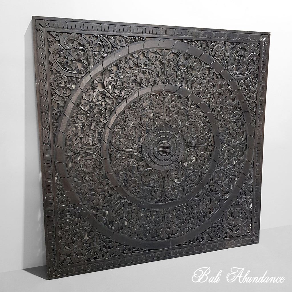 Hand Carved Panel DARK BROWN 165 X 165