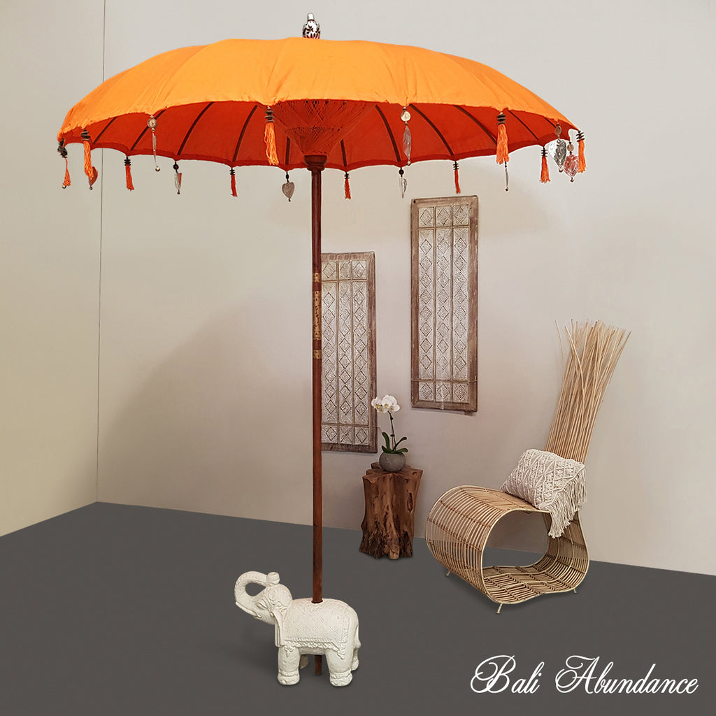 Balinese Orange Umbrella 2m