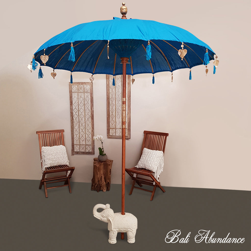 Balinese Blue Umbrella 2m