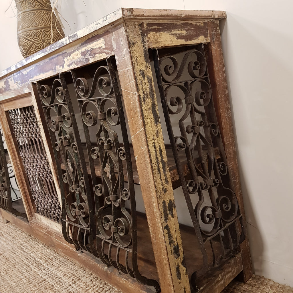 Indian Jali Console Counter - Eco Village Collection
