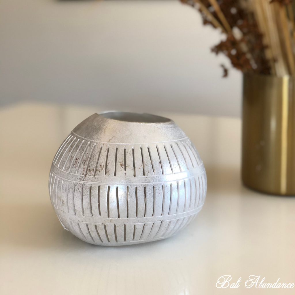 Coconut Tealight Bowl - Silver