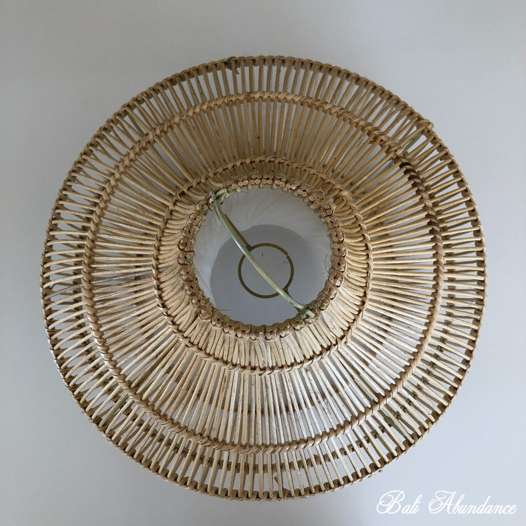 Handmade Natural Rattan Light Shade Pendant with Shade