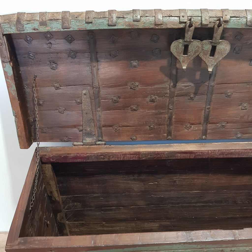 Indian Old Antique Dowry Trunk Storage Box - Eco Village Collection 27U