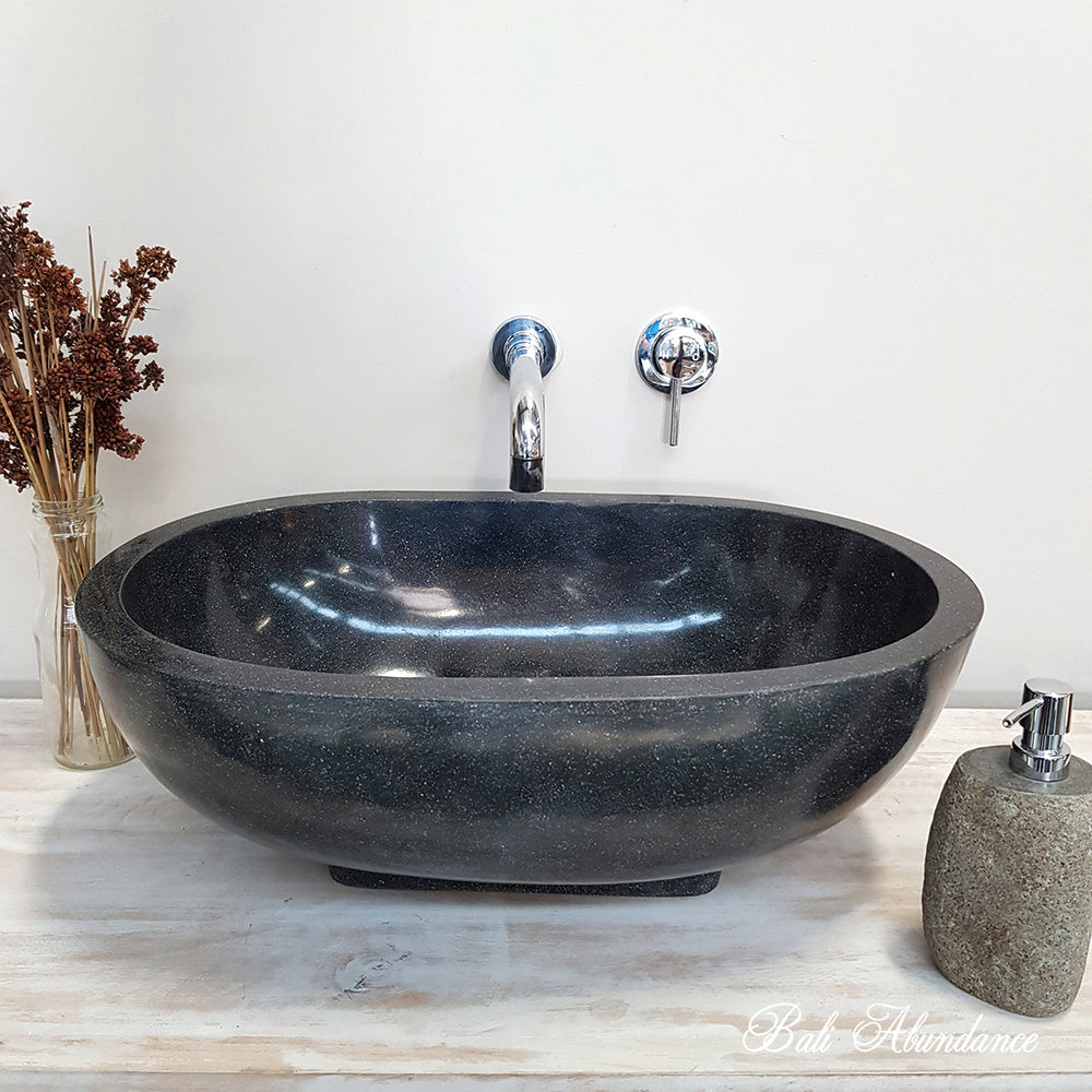 Black Marble Basin Bali Bathroom