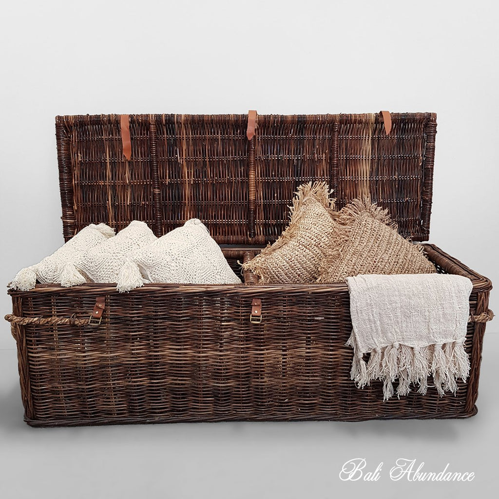 Rattan Blanket Storage box