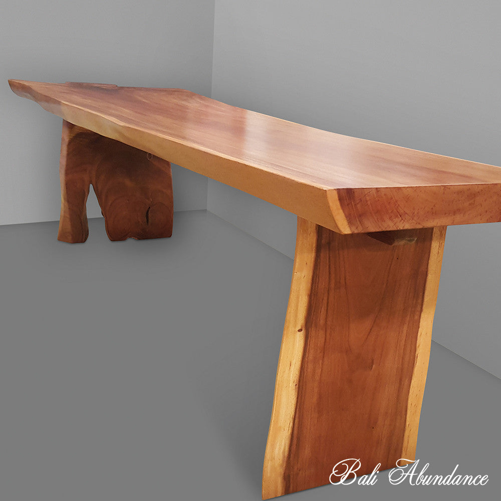 Suar Wood Slab Dining Table