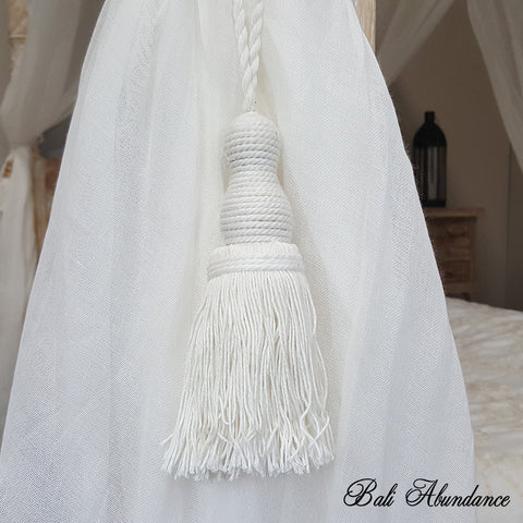 Tie Back Tassel Natural Cotton & Cotton (Pair)