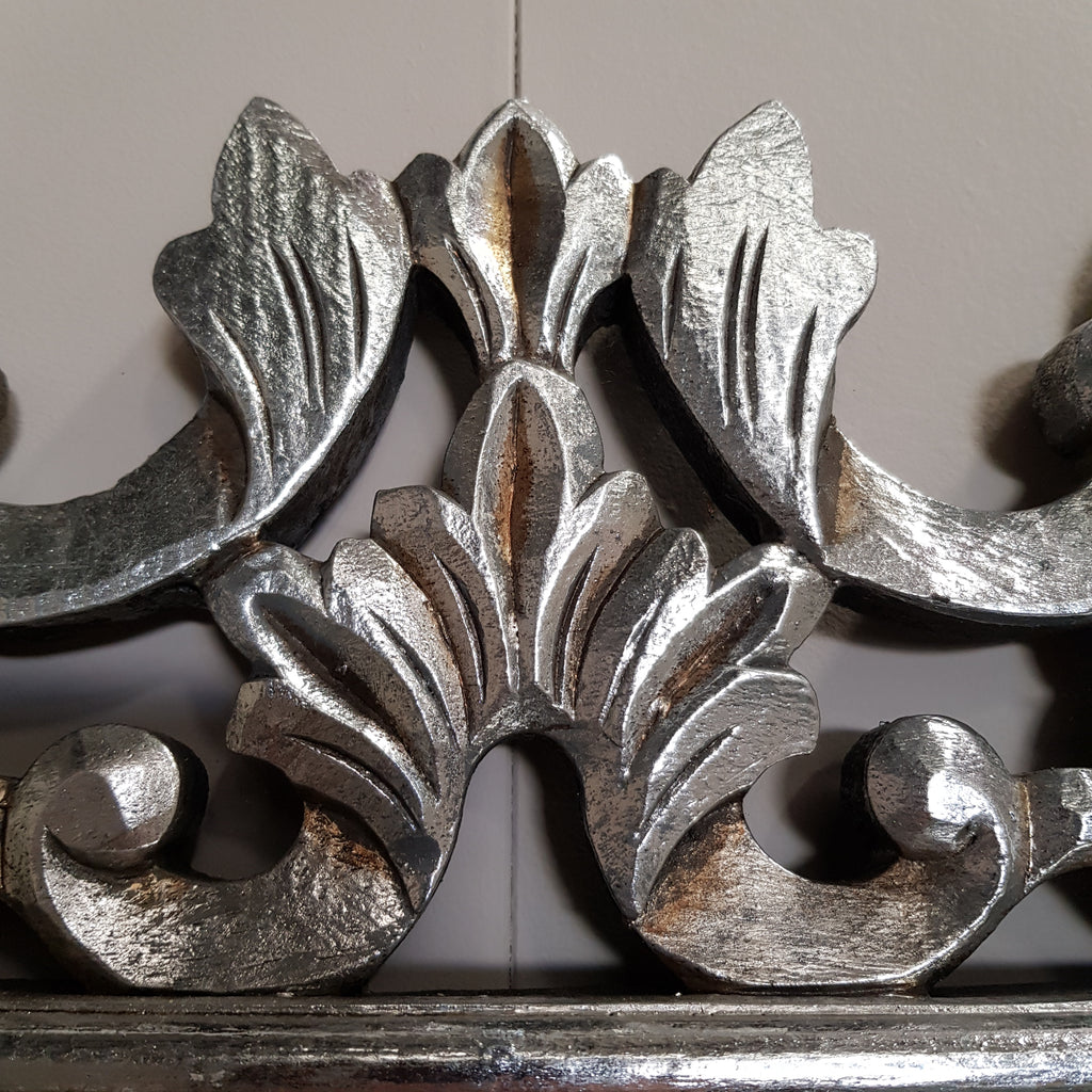 Hand Carved French Provincial Inspired SILVER Mirror 180 x 80