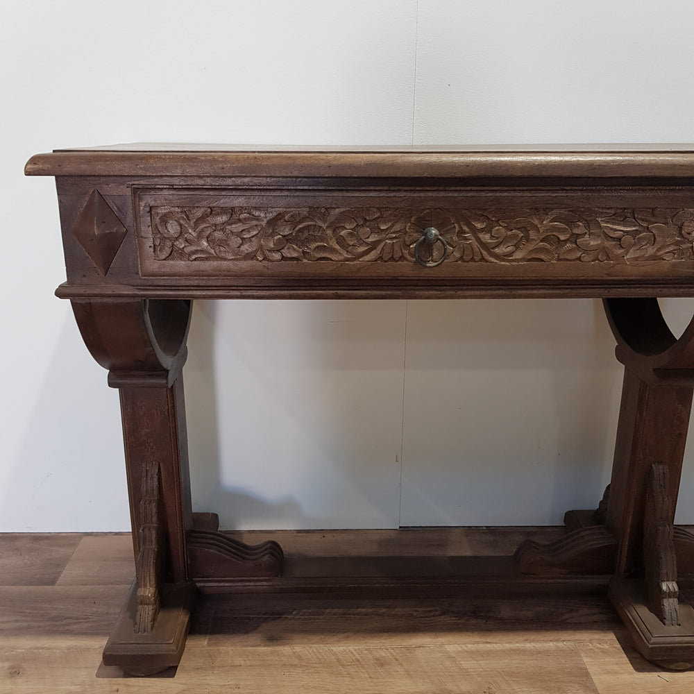 Indian Antique 2 Draw Console Desk - Eco Village Collection 31U