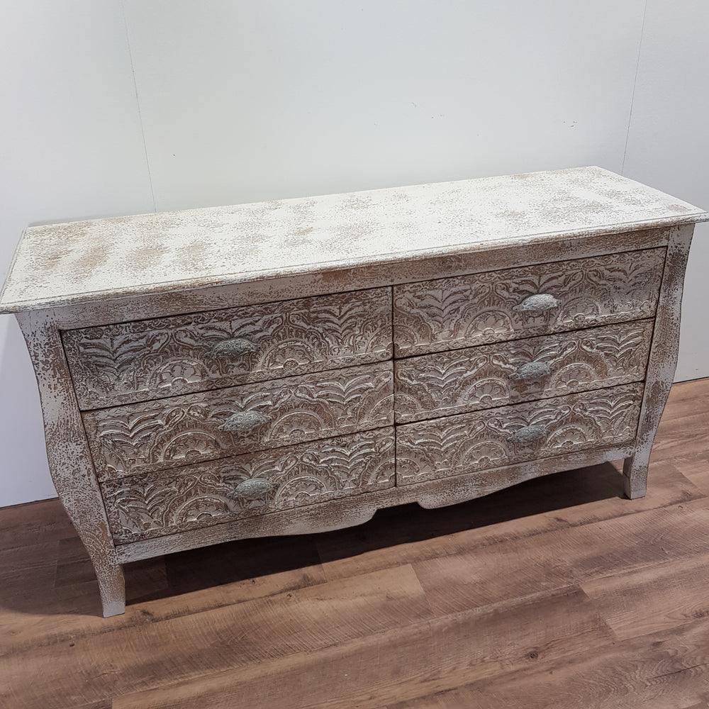 Indian Hand Carved Dresser Console - Eco Village Collection 33U