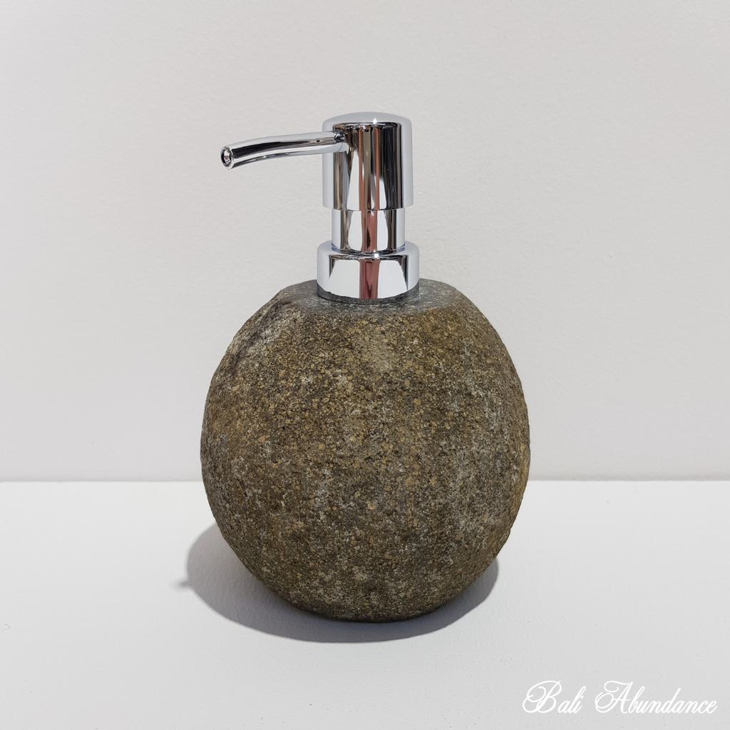 Natural River Stone Soap Dispenser Small 35R