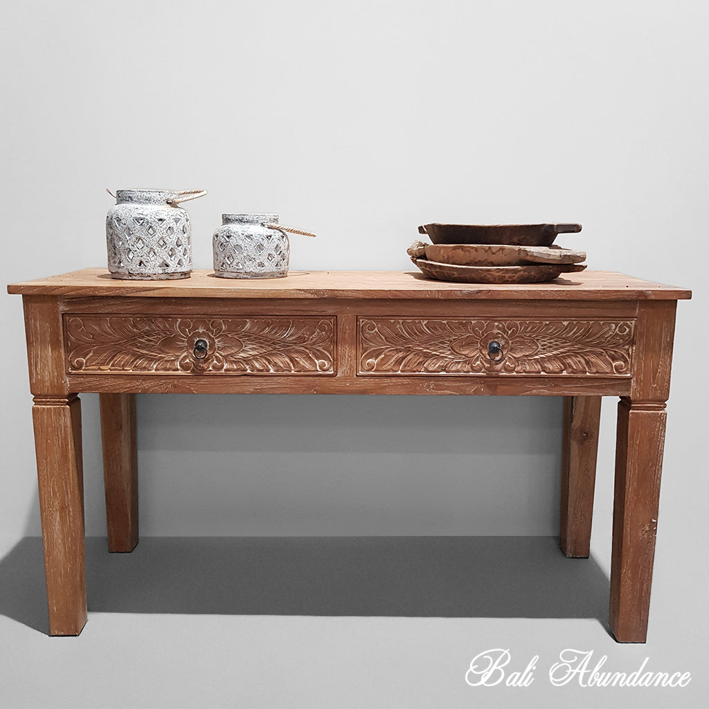bali, bali furniture, console, handcarved, sideboard, handmade, desk, office, drawers