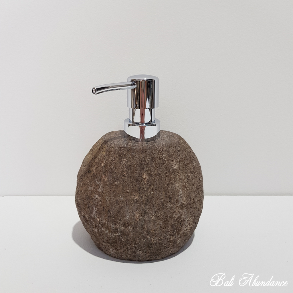 Natural River Stone Soap Dispenser Small 37R