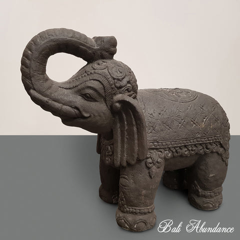 Black Cement Elephant Umbrella Stand