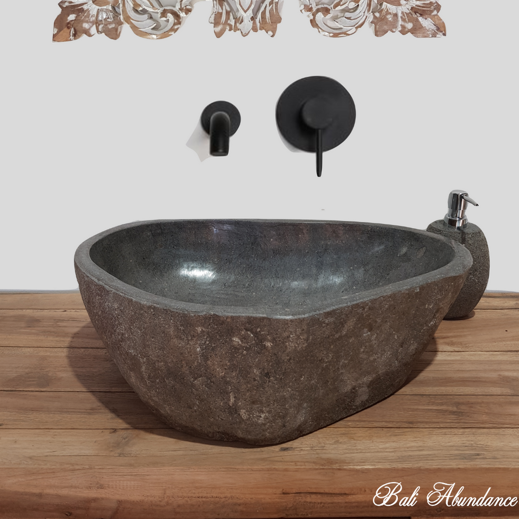 Natural River Stone Bathroom Basin Large 40S/A