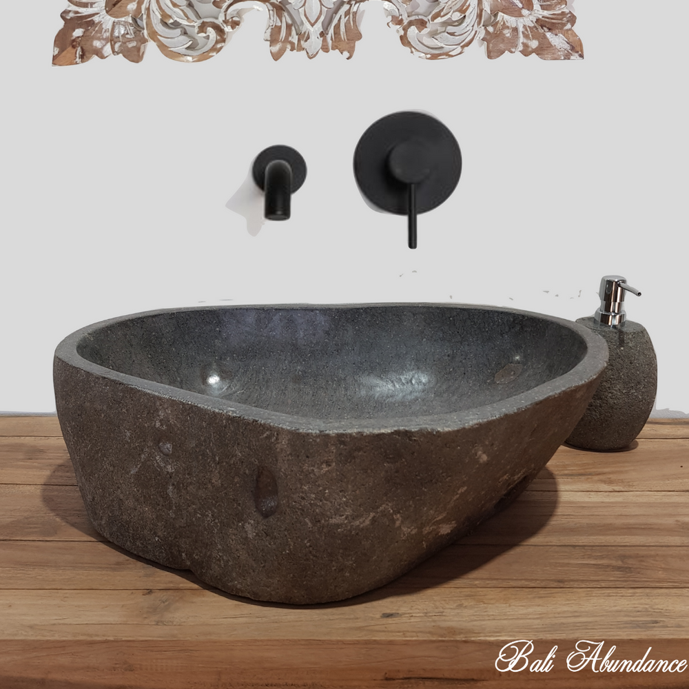 Natural River Stone Bathroom Basin Large 40S/B