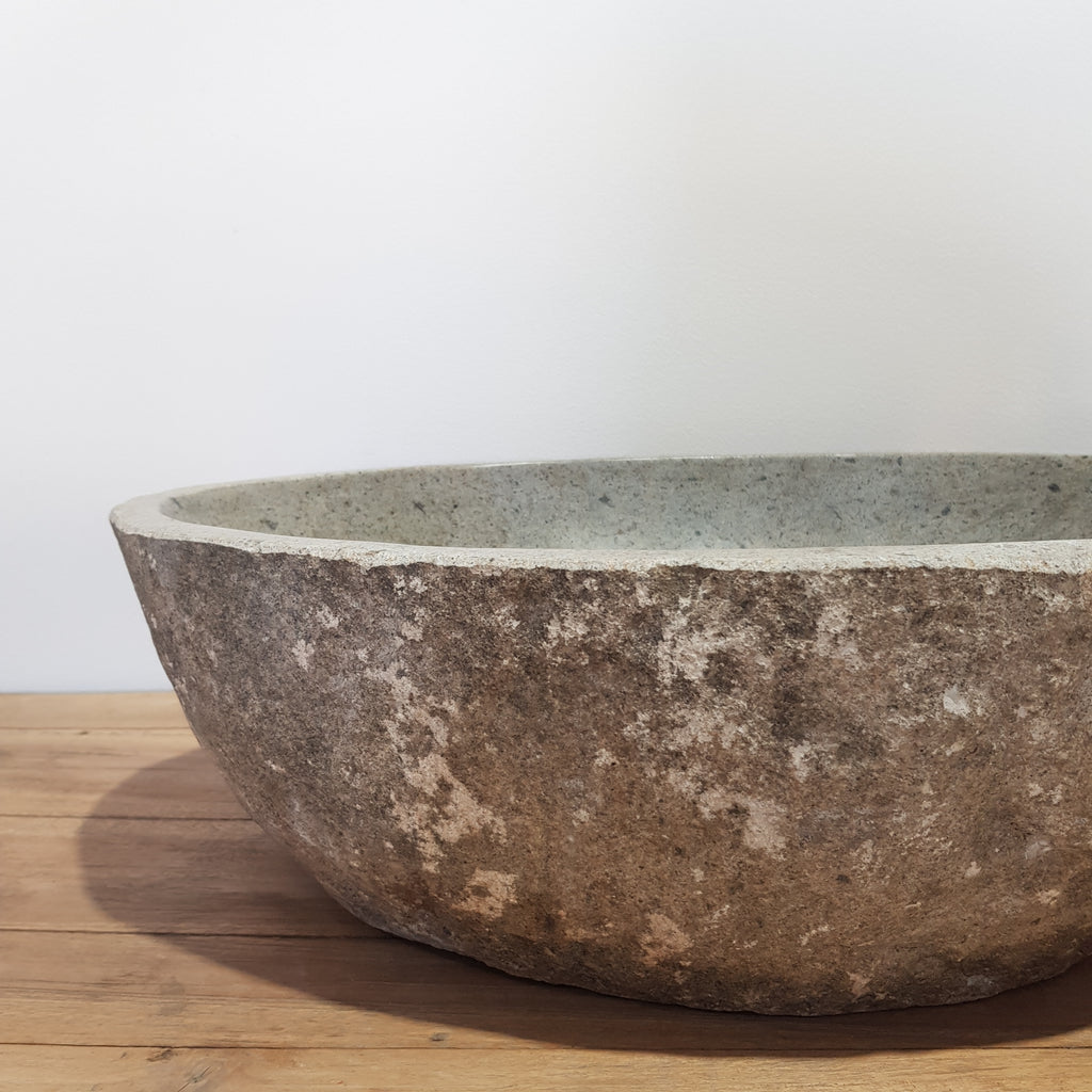 Natural River Stone Bathroom Basin Large 41S/A