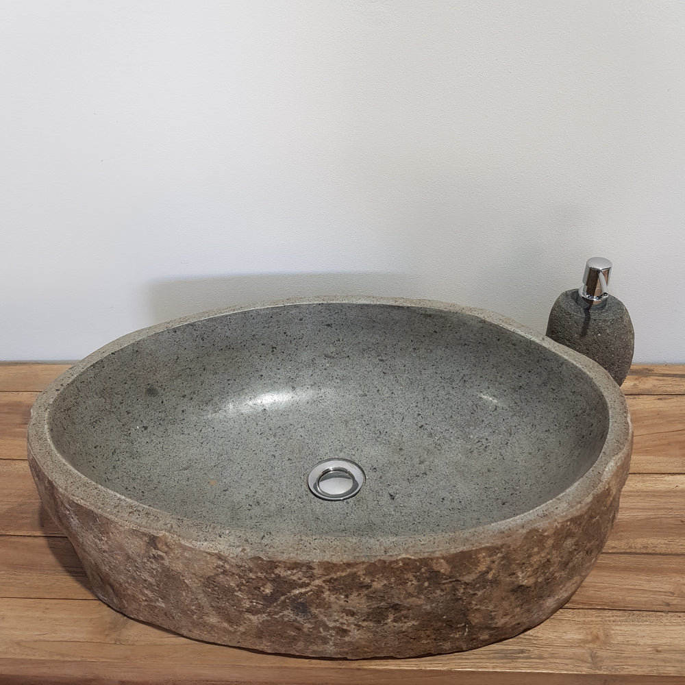 Natural River Stone Bathroom Basin Large 41S/B