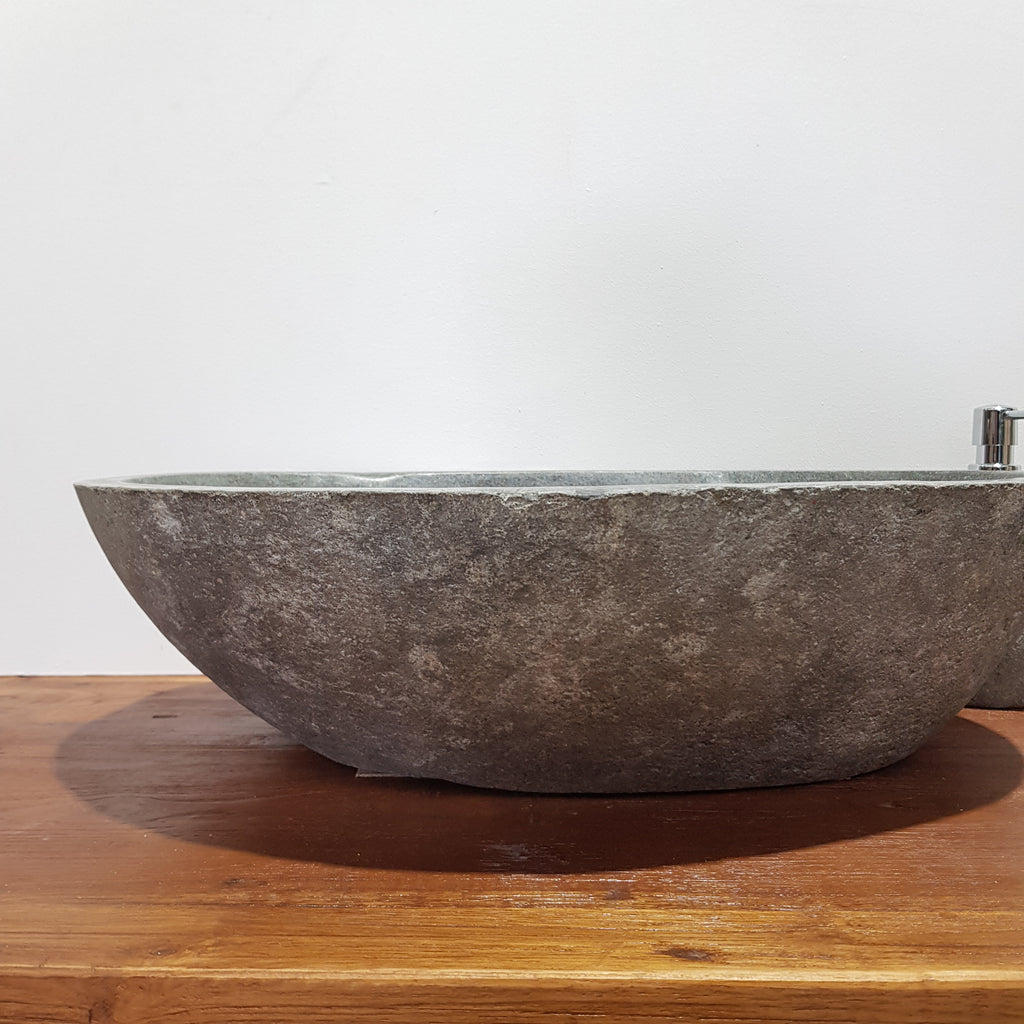 Natural River Stone Bathroom Basin Large 42S/A