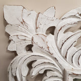 Hand Carved French Provincial Inspired Medium Whitewash Mirror